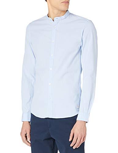 TOM TAILOR Denim 1022740 Structure Camisa, 25264 Dobby-Juego de Mesa (2 Unidades), Color Azul Claro, XXL para...