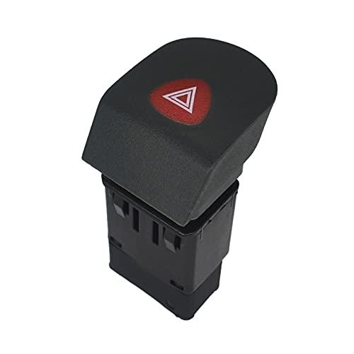 Interruptor de Luz Intermitente de Emergencia de Peligro de AutomóVil ,Botón De Interruptor De Luz De Advertencia De Peligro per R-enault Kangoo 1997-2007 7700308821 KASturbo