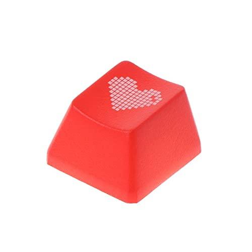 juqingshanghang1 Rote Liebe Herz Muster Tastatur Keycap Mechanische Key Cap Hat für PC Computer Notebook Verwenden Sie Lieferungen Geeignet für Computerperipheriegeräte (Color : 2)