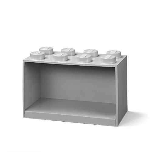 Room Copenhagen Estantería de Bloques Lego 8 Elementos, Gris, 8 ladrillo