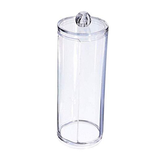 Beito Coton Pad titulaire 1PC qtip porte distributeur salle de bain clair pot pour les boules de coton, coton écouvillons, Q-Tips, tampons de maquillage stockage (Grand)