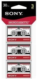 Sony MC30R Microcassette 30 Minute Recording - 1 Pack of 3