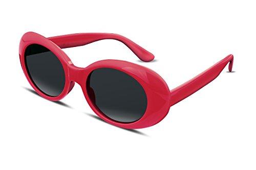 FEISEDY Gafas Clout Gafas de sol rosa Kurt Cobain HypeBeast Oval Mod Style B2253