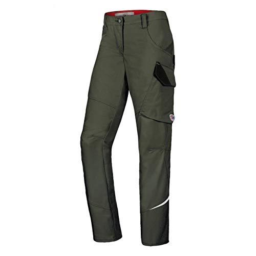 BP 1981-570-73 Workwear - Pantaloni da lavoro da donna, in poliestere e cotone, taglia 46n, colore: Verde oliva
