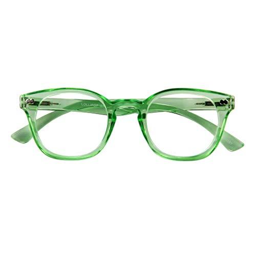 I NEED YOU Lesebrille LOLLIPOP, grün, 2.50 dpt.: Lesebrille mit Federtechnik, Stärke: +2.50 dpt. (in weiteren Farben/Stärken erhältlich)
