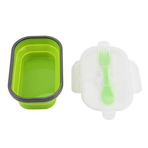 Fdit - Fiambrera de silicona para frutas de picnic con recipiente extensible telescópico plegable a la horquilla