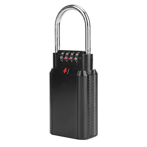 Key Safe Box, Password Key Box, Durable High Security Anti‑Theft for Factories Families Offices Companies(Black)