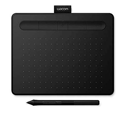 Wacom Intuos S zwarte pen dienblad - mobiel tekenblad voor schilderen en fotobewerking met drukgevoelige pen & Bluetooth en 2 gratis software downloads* - Compatibel met Windows & Mac