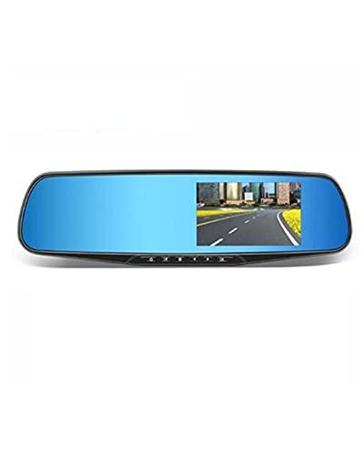 ACD Coche DVR Cámara de Coche de Doble Lente Full HD 1080P Grabadora de Video Espejo retrovisor con Vista Trasera DVR Dash CAM(Color:b,Size:32G)