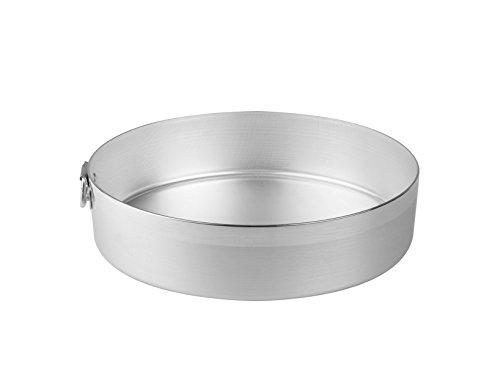 Pentole Agnelli Tortiera Cilindrica con Anello, Alluminio, Argento, 26 cm