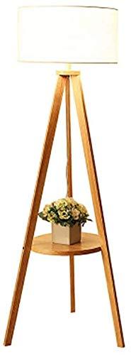 Leselampe Nordic Holz Stativ Stehlampe Nachttischlampe Schalter,Wood color