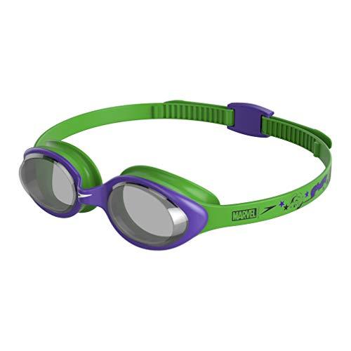 Speedo Disney Illusion Goggle Swimming, Junior Unisex, Verde/Morado/Gris, Talla única