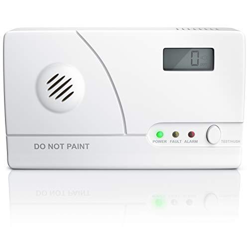 CSL - Kohlenmonoxidmelder CO Melder - CO Warnmelder - Detektor - Alarm Warner mit Sofortalarm - CO Gasmelder - Neues Modell mit präziesem Figaro Gassensor - auch für Kamin Wohnwagen UVM