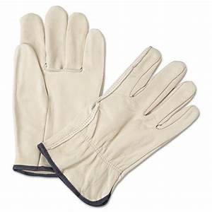 12 Pair X Large Leather Work Gloves. Durable Cowhide Leather. Ideal Hand Protection for Construction & Industrial Use. SM to 3X Sizes. (Extra Large)