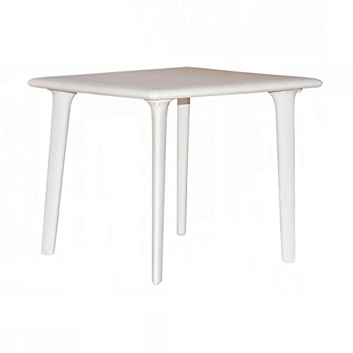 resol Mesa de jardín Exterior Cuadrada New Dessa 90x90 - Color Blanco