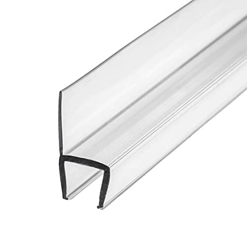 """eatelle Frameless Shower Door Side Seal Stripe for 1/2"""" Glass, Vertical Polycarbonate H-Jamb, 180 Degree 78"""" in Long"""