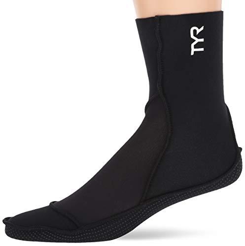 TYR 1TSOC6AL Neoprene Swim Socks, Black, Large