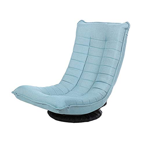 XinQing-sofá Perezoso Sofá Moderno, Minimalista, Perezoso, balcón, Sala, Comedor, Tela Informal, sofá, Silla (Color : Blue)