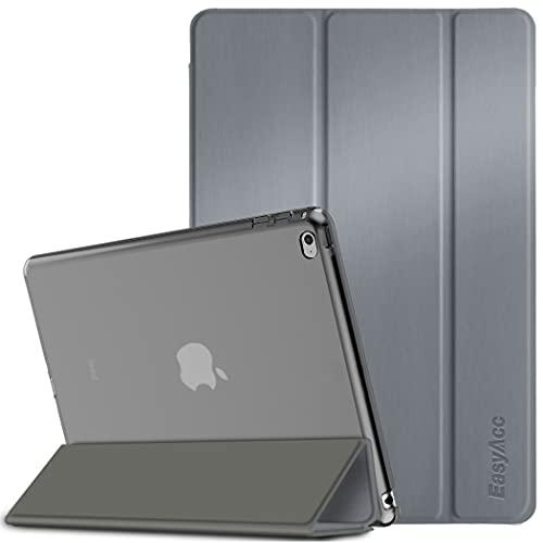 EasyAcc Hülle Kompatibel mit iPad Air 2, Ultra Dünn Transluzent Matt Rückseite Abdeckung mit Auto Aufwachen/Schlaf Funktion Kompatibel mit iPad Air 2 A1566/A1567 (Grau)