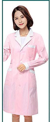 Miaoao-HL Lab Jas, Vrouwelijke Gezondheidszorg Jurk Verpleegkundige Medische Uniform, Scrubs Uniformen, Werkkleding, Verpleegkundigen Uniform, Schoonheid Tunieken, Lang-Sleeve Medisch Wit Lab Jas