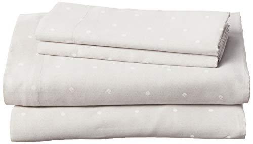 Vera Wang |Fashion Collection |Bed Sheet Set - Crisp & Cool, Lightweight Breathable & Moisture-Wicking Bedding, King, Eyelet (USHSA01133410)