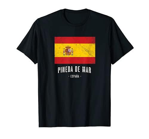 Pineda de Mar España   Souvenir Linda Ciudad - Bandera - Camiseta