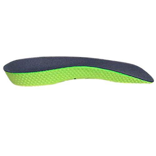 Artibetter Correction Insole Half-Pad-Einlegesohlen Stoßdämpfende Einlegesohlen für Flat Foot Arch Support Sports (Grün)