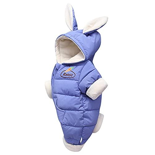 YWLINK Bebé Invierno Mamelucos Con Capucha Ropa Traje De Nieve NiñAs NiñOs Abrigo Outfits Manga Larga AlgodóN Monos Peleles Mono De Felpa Polar Calentar Regalos 0-24 Meses