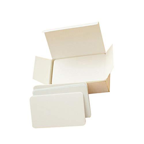 90er Pack Leerkarte unbeschriebenes Blatt Papierkarten Karteikarten Papier Grußkarten Flash Karten - Weiß