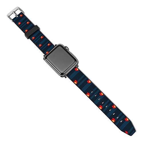 La última correa de reloj de estilo compatible con Apple Watch Band 38 mm 40 mm Correa de repuesto para iWatch Series 5/4/3/2/1, elefante rojo