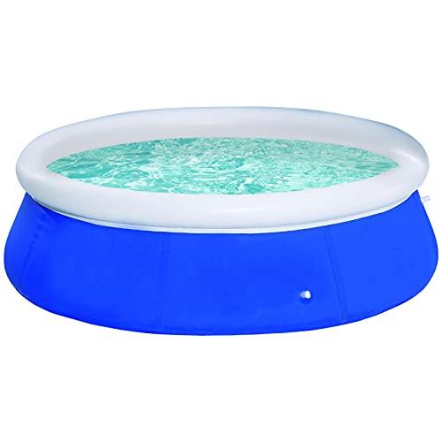 Wild n' Wet - 2.4m Jumbo Family Paddling Pool, Garden Paddling Pools, Blue Large Family Pool, Large Paddling Pool for Kids, Garden Toys, Garden Pool, Paddling Pools for Toddlers, Summer Pool