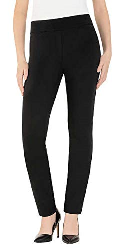 Dalia Ladies' Comfort fit Sits at Waist Slim Leg Stretch Pull On Pant (Black, Small)