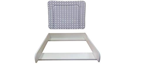 Polini Wickelaufsatz weiß mit Auflage Sterne für Kommode MALM IKEA Abnehmbarer Wickelaufsatz mit Wickelauflage