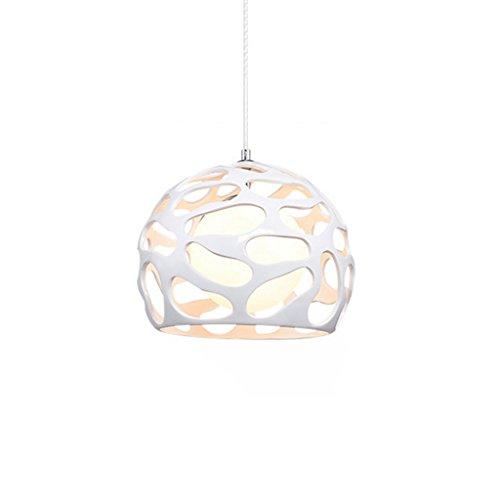 DEI QI Lustre en résine nordique, art moderne lampe chambre salon salle à manger minimaliste de plafond, éclairage haute luminosité de verre sphérique lampe suspendue, des lustres creux chaud et roman