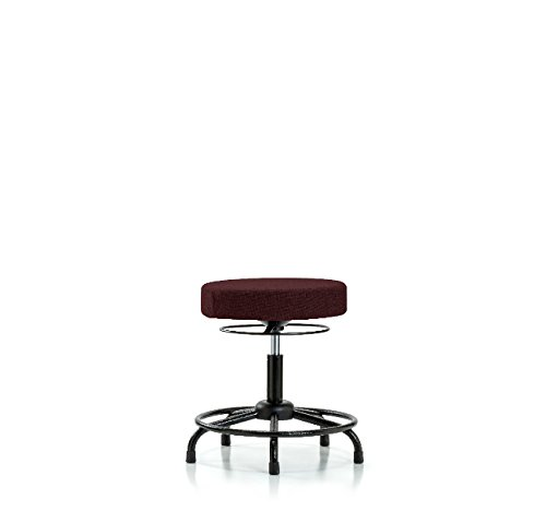 Fabric Import Medium Bench Height Stool - Burg Tube Limited time trial price Glides Round Base