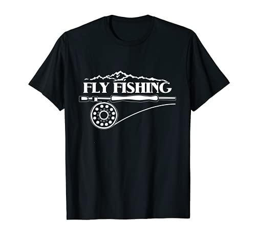 Pesca con mosca trucha y montaña amante al aire libre Moscas caña...