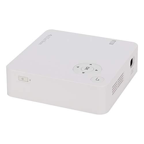 Zunate Mini proyector, 1080P HD LED DLP Imaging Proyector de Cine en casa portátil WiFi Proyector de Oficina inalámbrico, con Control Remoto, para películas domésticas/Oficina(Enchufe de la UE)