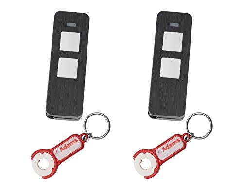 Sommer, Pearl Twin 2-Befehl-Handsender 868Mhz S10019-00001 SOMloq2 (2er Pack) + 2 Stück ADAMS Schlüsselanhänger/Einkaufschip