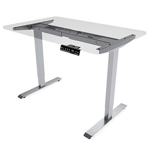 E.For.U Elektrisch höhenverstellbarer Schreibtisch (Dualer Motor, Silber) - ohne Tischplatte!