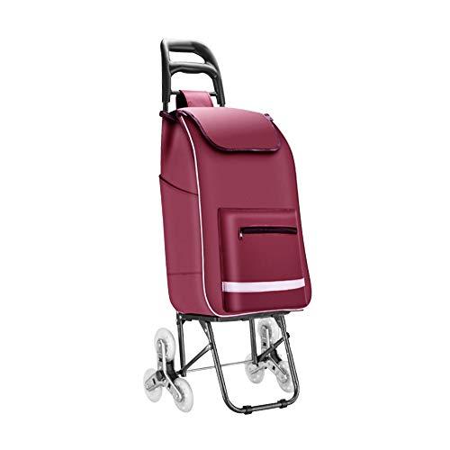 ショッピングキャリー ショッピングカート ショッピングバッグ 買い物カート 折りたたみ 軽量 3輪 (コード3) (赤紫)