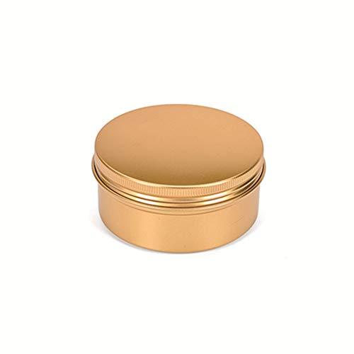 Egurs Goud aluminium lege dozen 10 stuks 50ml ronde lege doos met schroefdraad voor thee/kaars/cosmetica/specerijen