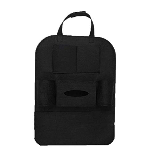 Auto-Rücksitz Tasche Veranstalter Lagerung hängen Filztasche Sitzrückentasche Schützer Startseite Auto-Nacht Boxsack Box Taschentücher Multi Schwarz 1pc