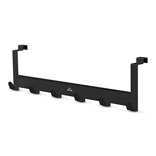 MDCASA Türgarderobe Rückseite schwarz - Hakenleiste Tür - Handtuchhalter Bad - Türhängeleiste - Türhakenleiste