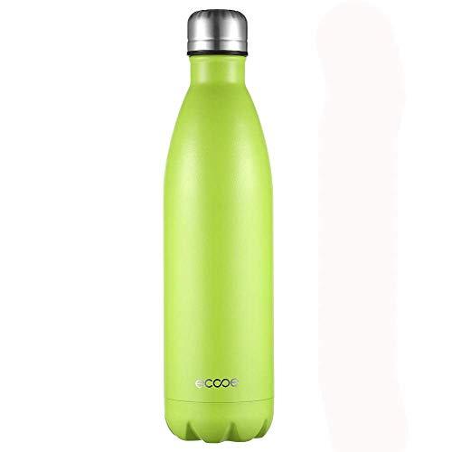 ecooe Thermosflasche 500ml-750ml Doppelwandig Trinkflasche Edelstahl Wasserflasche Vakuum Isolierflasche Grün