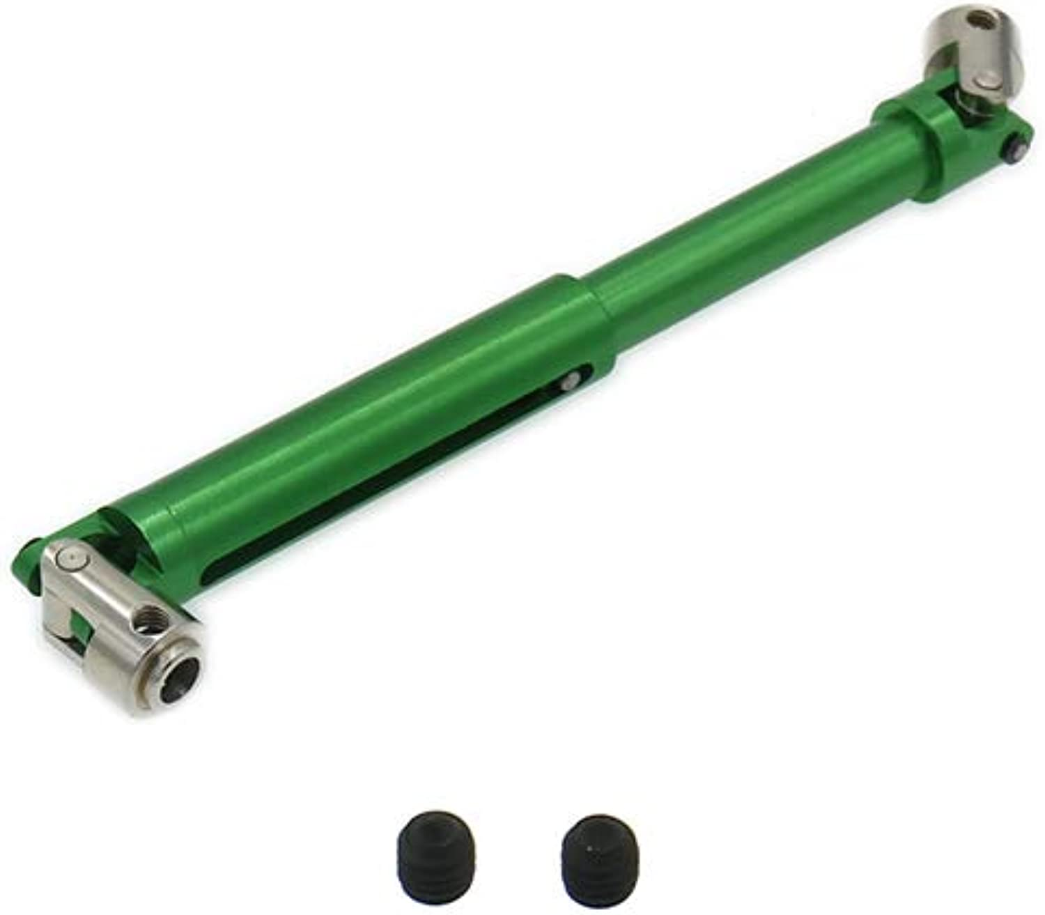 1PC Aluminum Universal Drive Shaft for 1 10 Rc Hobby Model Car Axial Yeti AX31017 90026 90025 Driven Shaft RCAWD Alloy   Green