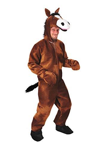 Pferd braun offen Einheitsgrösse M Kostüm Fasching Karneval Maskottchen
