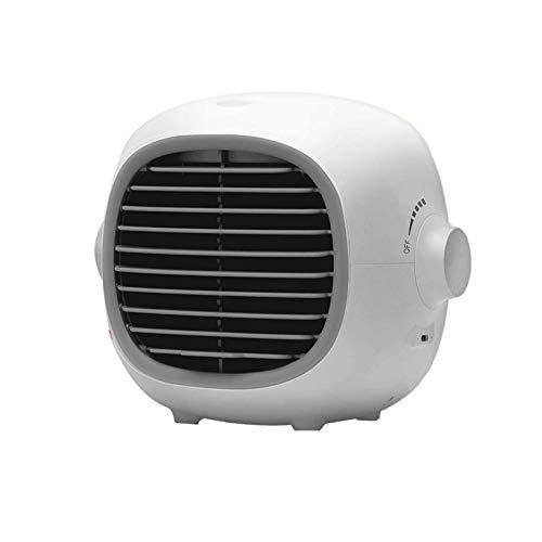 Nrpfell Ventilador de Aire Acondicionado para Interiores Aire Acondicionado PortáTil Ventilador de RefrigeracióN por Agua, con Tanque de Agua de 200 Ml USB Recargable, Blanco