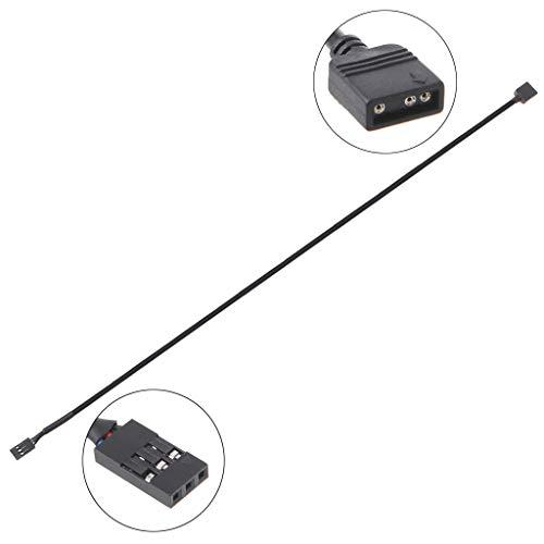 ZZALLL5V 3PIN RGB VDG Adaptador Conector de línea Placa Base 5V 3Pin VDG a 3Pin Normal