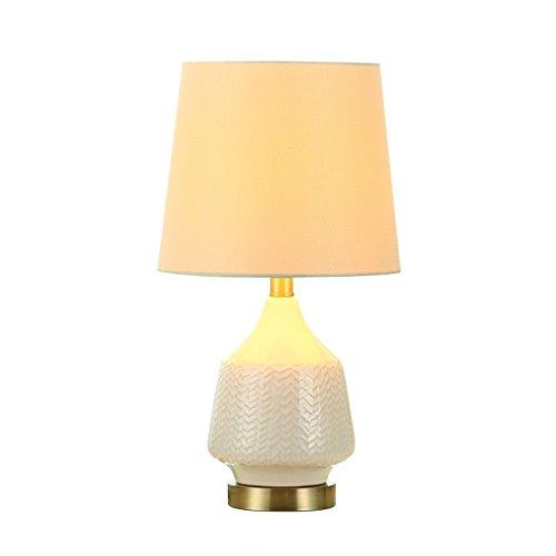 CKH Ice Crack Wit keramische tafellamp creatief minimalistisch kleine slaapkamer Bedside verlichting tafellamp doek lampenkap