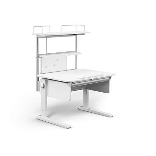 moll Champion CP Flex Deck Kinderschreibtisch Erweiterung, Holz, Weiß, 90cm x 86cm x 30cm